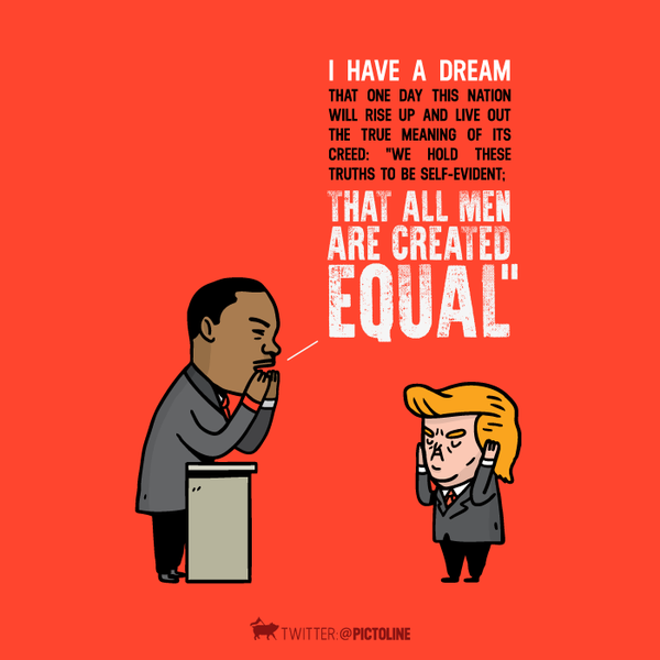 I have a dream, de Luther King para Trump